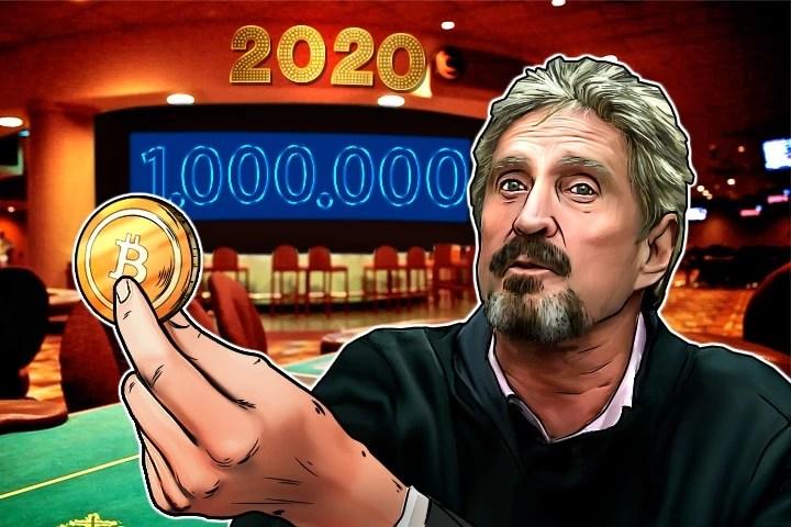 1. John McAfee: $1 triệu cuối năm 2020 (hoặc...)