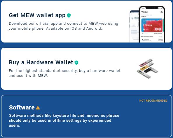 MEW wallet access