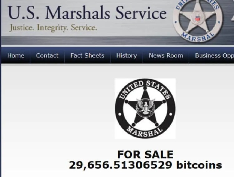 Marshals Bitcoin Auction