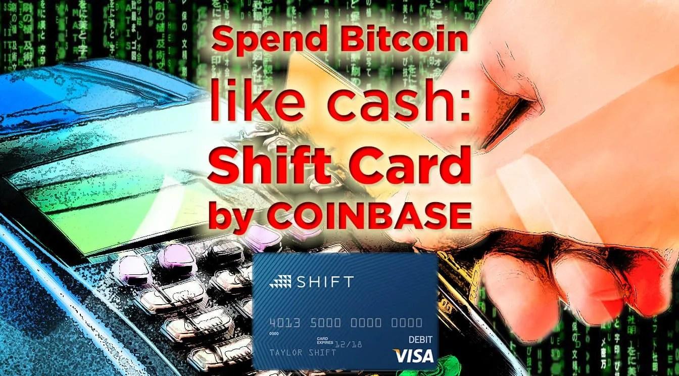 Coinbase shift debit card bitcoin