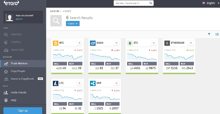 etoro cryptocurrencies