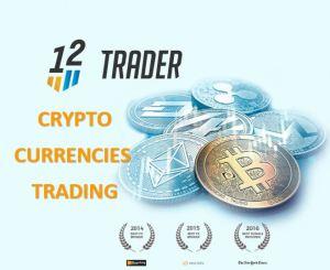 Criptomoneda de comercio con 12trader