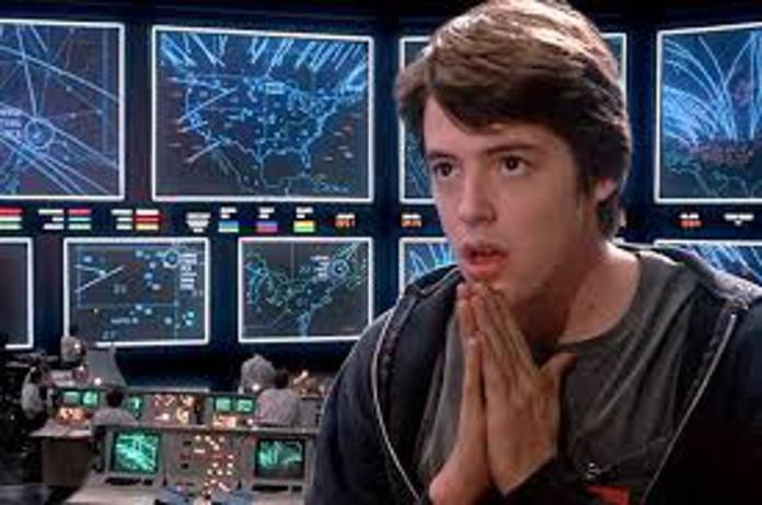 Actor Matthew Broderick plays the role of David Lightman in the movie WarGames (1983).