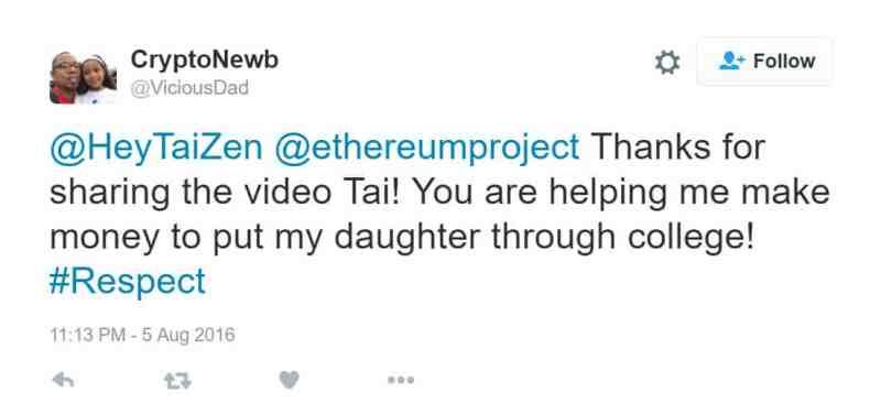 Tai Zen - You are helping me make money to put my daughter thru college