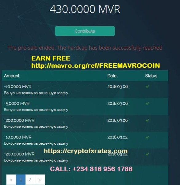 430 Free MVR Coin