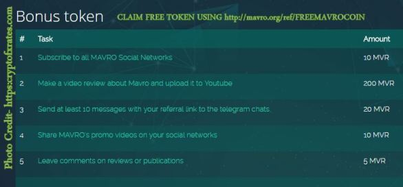 Claim Mavro Bonus Tokens ref