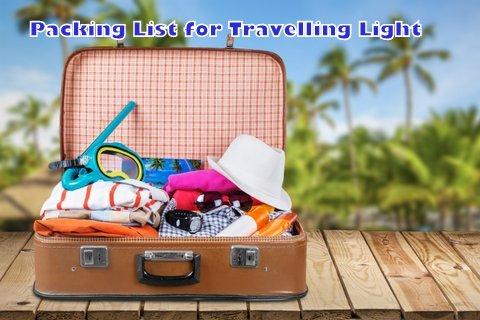 Packing List for Travelling Light