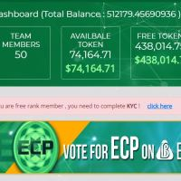 Convert ECP Token to free tokens