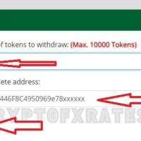 Enter number of tokens to withdraw enter 9999 ECP