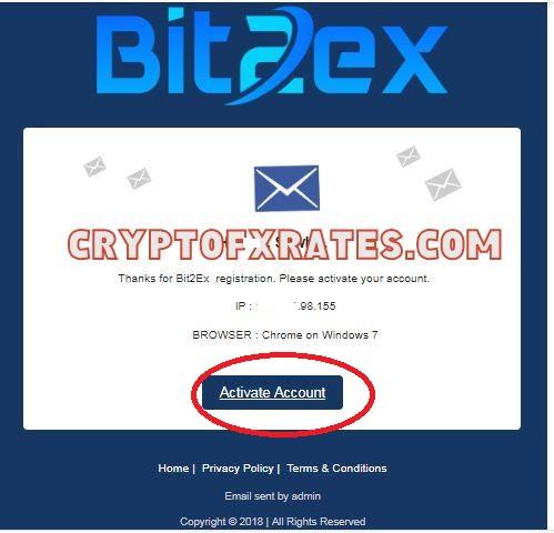 how to verify Bit2ex Exchange