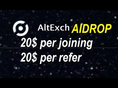 AltExch Exchange Airdrop Tutorial - Earn 200 AEX Tokens ($20) Free - $20 Per Referral