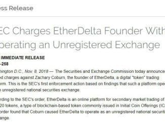 SEC Has Charged EtherDelta Founder With Operating An Unregistered Securities Exchange