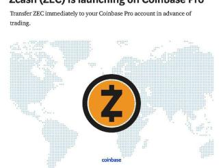 Zcash Is Launching On Coinbase Pro. Deposits: November 29, 18:00 UTC