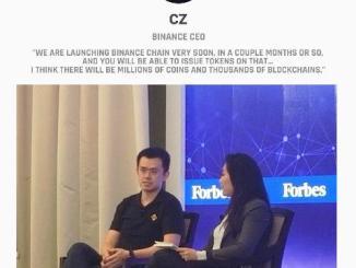 We Are Launching Binance Chain Very Soon - CZCZ Binance CEO