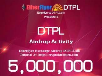 Etherflyer Exchange Airdrop DTPLCoin – Earn DTPL Tokens Free