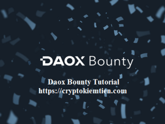 Daox Crypto Bounty Tutorial - Earn Up $5,000 In DXC Token