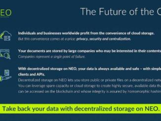 NEO Has Announced The Decentralized Storage Initiative