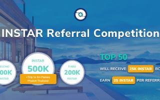 Insights Network Referral Rewards Program – Earn Up To 500K INSTAR Tokens ($4.5K) – INSTAR Token Is Trading On Bibox Exchange