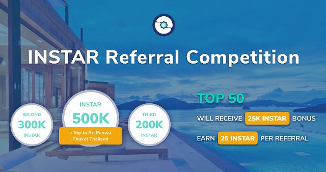 Insights Network Referral Rewards Program - Earn Up To 500K INSTAR Tokens ($4.5K) - INSTAR Token Is Trading On Bibox Exchange