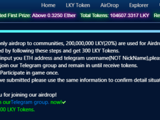 Luckyyou Decentralized Lottery Game - 300 LKY Token Airdrop Free - Win First Prize 0.325 ETH Per Round