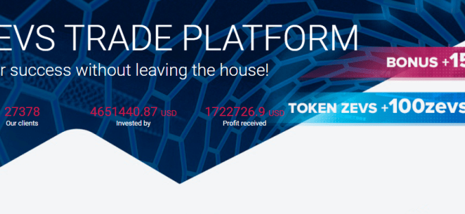 Zevs Trade Platform Rewards - Sign Up To Get $15 And 100 ZEVS Tokens ($100) Free - Reinvest Your Rewards ($15) To Earn 2% Daily Profit