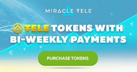 Miracletele Airdrop Tutorial - Earn 100 TELE (€15) Token Free And Get Monthly Rewards €1.8 Per 100 TELE Tokens