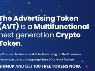 The Advertising Airdrop AVT Token - Earn Free 100 AVT Tokens - Worth The $5