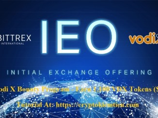 Vodi X Bounty Program Tutorial - Earn 1,100 VDX Tokens ($11) - VDX Will IEO On Bittrex Exchange