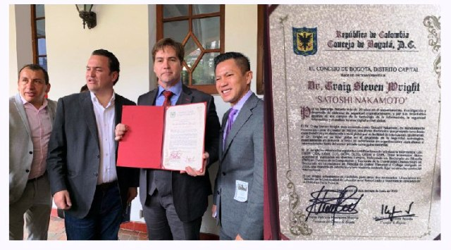 Craig Wright Is Recognized As Satoshi Nakamoto In Colombia By Council of Bogota