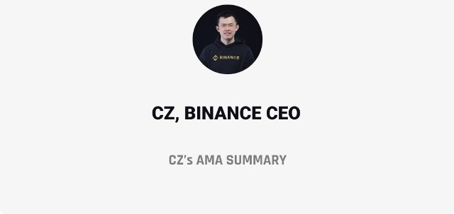 Summary Of CZ's AMA About Binance
