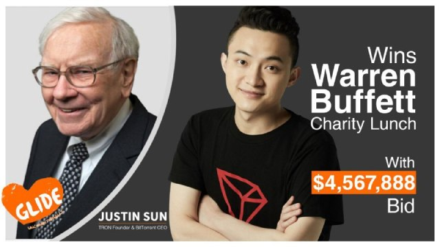 Justin Sun Has Won An eBay Charity Auction To Have Lunch With Warren Buffett