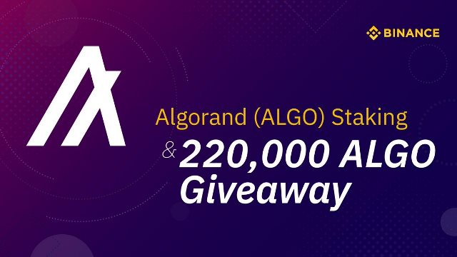 Binance Has Supported Algorand Staking - Airdrop 220,000