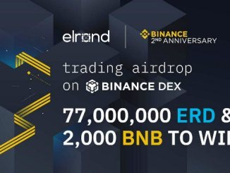 Elrond Trading Airdrop On Binance DEX - 77,000,000 ERD And 2,000 BNB To Be Airdropped