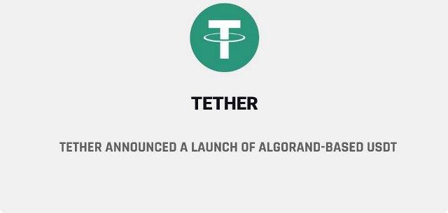 Tether Announced A Launch Of Algorand Based USDT - Cryptokiemtien