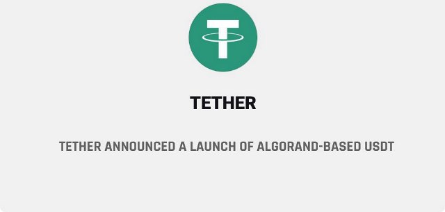 Tether Announced A Launch Of Algorand Based USDT