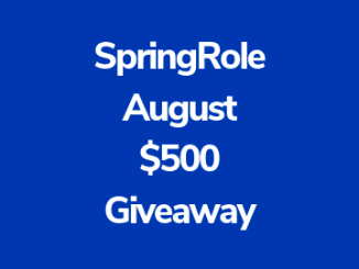 SpringRole Giveaway $500 - Get A Change To Win One Of The 20 Prizes Worth $25