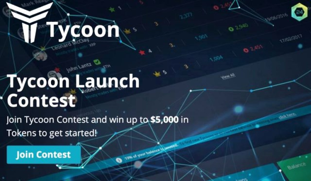 Receive TYCOON Tokens (TYC) Worth Of $50 - $5,000