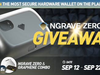 NGRAVE Giveaway - Giving Away 5 Cold Cryptocurrency Hardware Wallets
