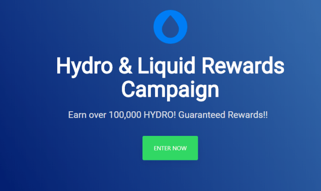 Hydro And Liquid Rewards Campaign - Earn Up To 100,000 HYDRO Tokens ~ $100