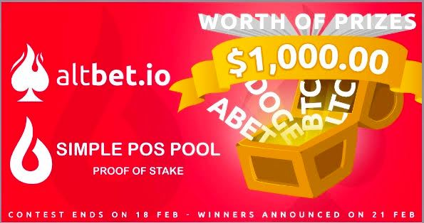 AltBet And SimplePOSPool Giveaway - Earn Up To $200
