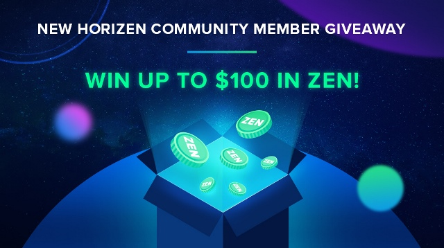 Horizen New Giveaway - Earn Up To $100 IN ZEN