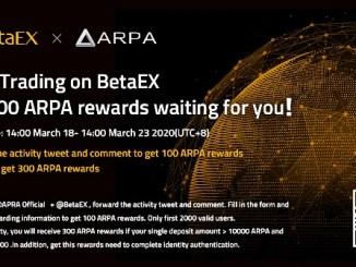 Betaex Airdrop ARPA Token - Receive 100 ARPA Tokens Free