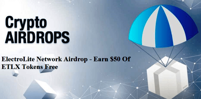 ElectroLite Network Airdrop ETLX Token - Earn $50 Of ETLX Tokens Free