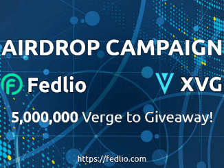 Fedlio Exchange Airdrop XVG Coin - Receive 1,000 XVG Coins Free