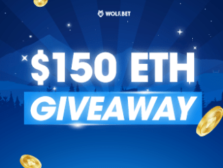 Wolf.Bet Giveaway Ethereum - $150 Of ETH For 2 Lucky Winners
