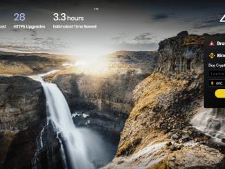 Binance Widget Is Integrated On Brave Desktop Browser