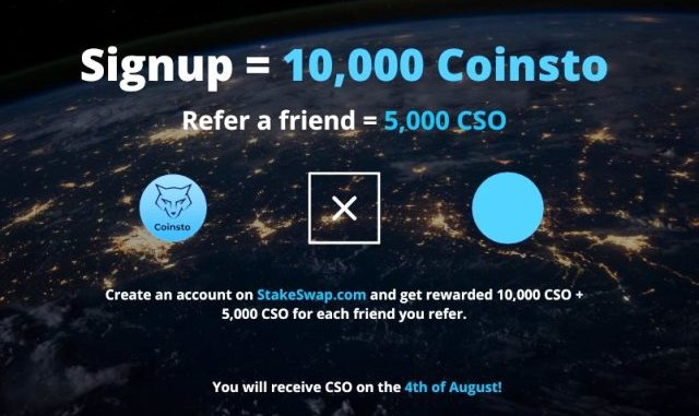 CSO Airdrop On Stakeswap - Get 10,000 CSO Tokens Free