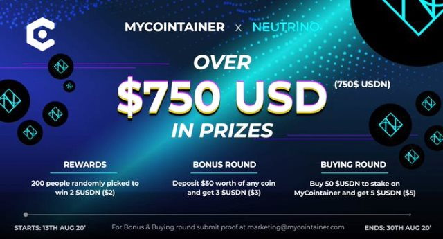 Neutrino Airdrop Campaign - $750 In USDN As Prizes