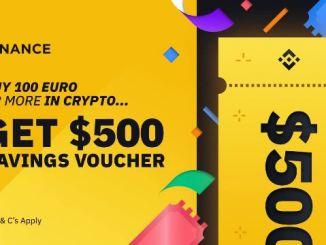 Earn Welcome Bonus From Binance - Savings Voucher Worth $500 USDT