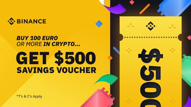 Earn Welcome Bonus From Binance - Savings Voucher Worth $500 USDT